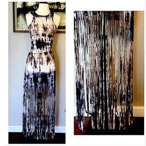 Alt B Boho Like New Fringed Maxi Dress